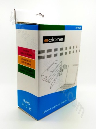 90 Watt Eclone Universal Adapter with 10 Different connector Tips compatible with 95% of laptops
