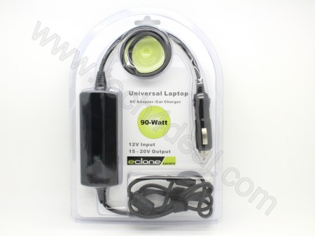 90 Watt with USB Port 8-Tips Universal Automatic Laptop DC Adapter / Car Charger - Eclone Savers