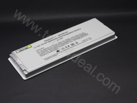 Apple MacBook A1185 10.8V 5600mAh 6-Cell White Replacement Laptop Battery
