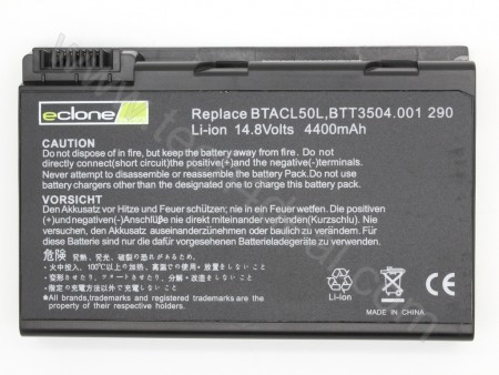Acer Travelmate 290 14.8V 4400mAh 8-Cell Replacement Laptop Battery
