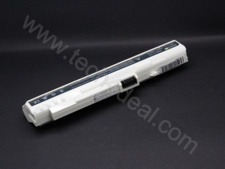 Acer Aspire One A110 A150 ZG5 11.1V 4400mAh 6-Cell White Replacement Laptop Battery