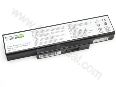 ASUS A32-K72 10.8V 4400mAh 6-Cell Replacement Laptop Battery