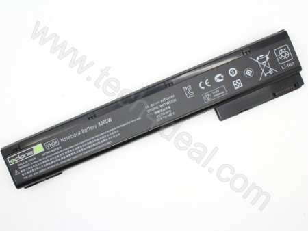HP EliteBook 8560w 8460p 14.8V 4400mAh 6-Cell Replacement Laptop Battery