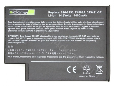 HP F4809A 14.8V 4400mAh 8-Cell Replacement Laptop Battery