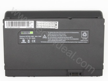 HP Mini 1000 11.1V 53Wh 6-Cell Replacement Laptop Battery