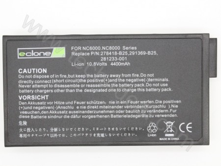 Compaq NC6000 10.8V 4400mAh 6-Cell Replacement Laptop Battery