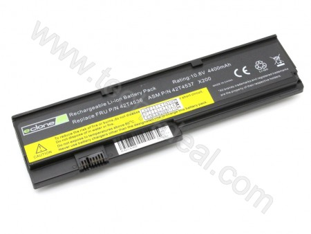 Lenovo X200 10.8V 4400mAh 6-Cell Replacement Laptop Battery