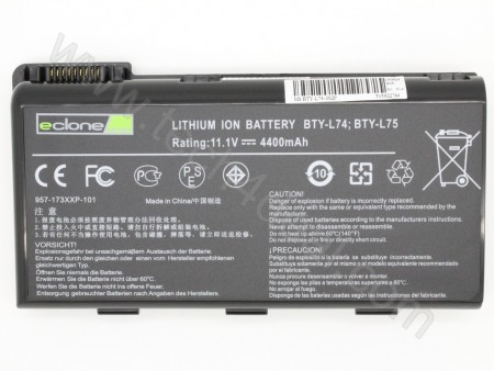 MSI BTY-L74 11.1V 4400mAh 6-Cell Replacement Laptop Battery