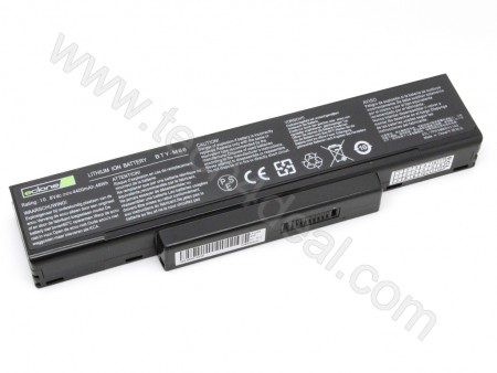 MSI M66 10.8V 4400mAh 6-Cell Replacement Laptop Battery