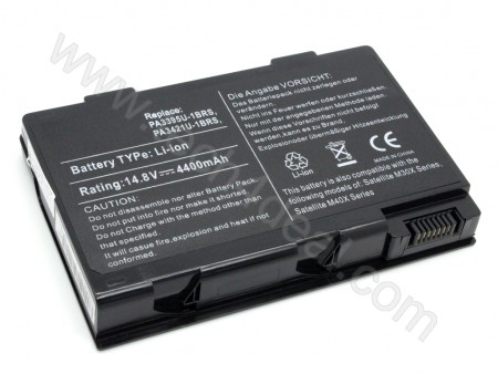 TOSHIBA PA3395U PA3421U 8-Cell 14.8V 4400mAh Replacement Laptop Battery
