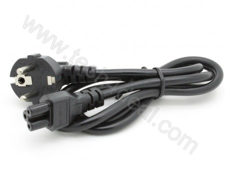 Laptop Power Cable 3-Prong Micky Mouse, EU 2-Pin Plug 1 meter Long