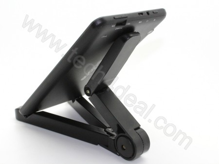 Tablet Holder / Foldable Plastic Holder / Black Color