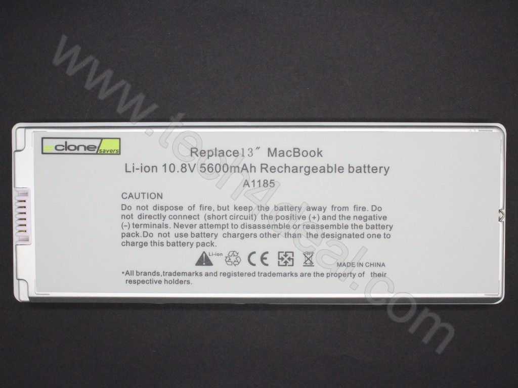 Apple Macbook A1185 108v 5600mah 6 Cell White Replacement Laptop China Battery Charging Circuit Cheap For