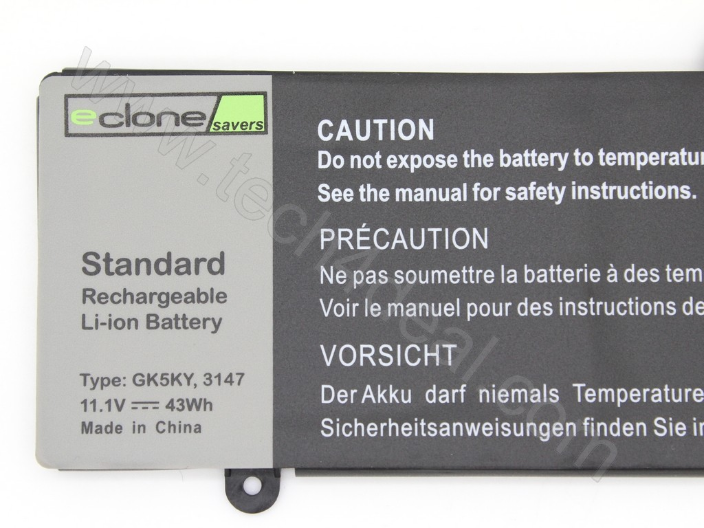 DELL Inspiron 11-3147 3148 / 13-7347 43Wh Type GK5KY 4-Cell Replacement  Laptop Battery