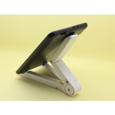 Tablet Holder / Foldable Plastic Holder / White Color